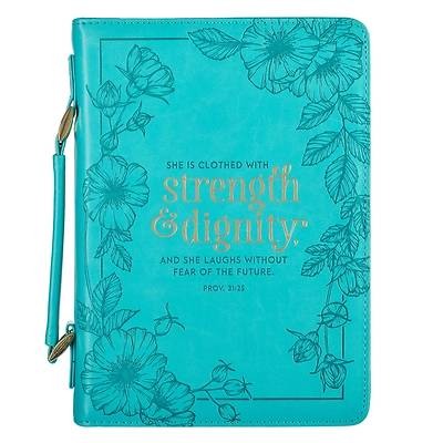 Picture of Bible Cover Fashion Extra Large She Is Clothed with Strength Proverbs 31