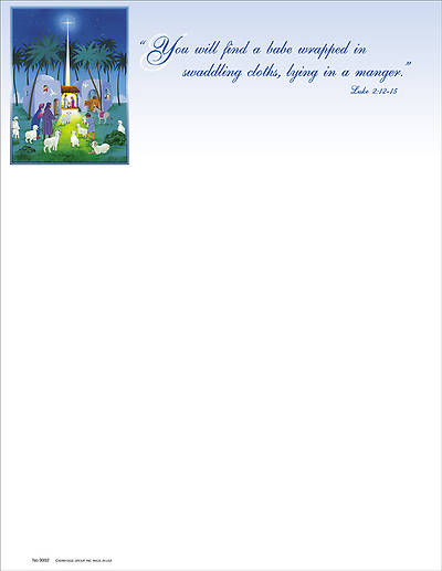 You Will Find a Babe Christmas Letterhead (Package of 100)