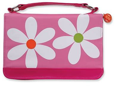 Microfiber Daisy Pink Zipper Pocket Medium