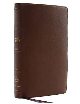 Nkjv, Thinline Reference Bible, Large Print, Premium Goatskin Leather, Brown, Premier Collection, Comfort Print
