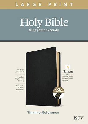 Picture of KJV Large Print Thinline Reference Bible, Filament Enabled Edition (Red Letter, Genuine Leather, Black, Indexed)