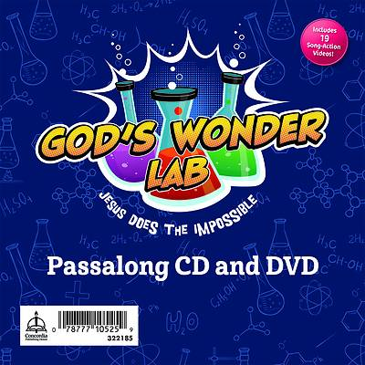 Picture of Vacation Bible School VBS 2021 God's Wonder Lab Passalong CD & DVD