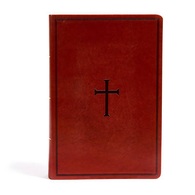 Picture of KJV Super Giant Print Reference Bible, Brown Leathertouch, Indexed