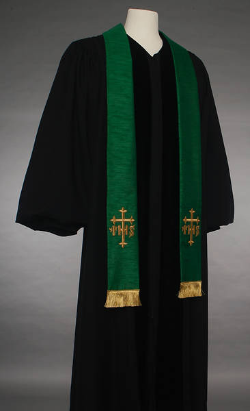 Picture of Green IHS Cross Stole
