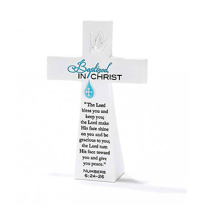"Picture of Baptized In Christ Tabletop Cross 5.5""H"