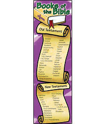 Books of the Bible Bookmarks Package of 25