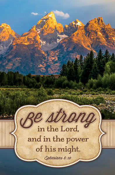 Picture of Be Strong in the Lord General Regular Size Bulletin