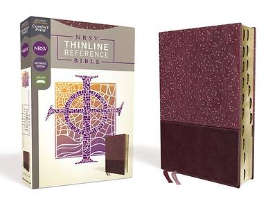 Picture of NRSV Thinline Reference Bible, Leathersoft, Burgundy, Indexed, Comfort Print
