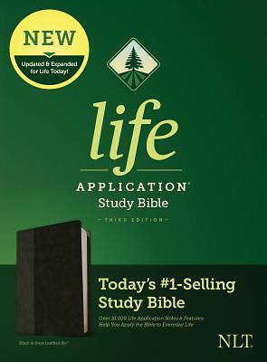 Picture of NLT Life Application Study Bible, Third Edition (Leatherlike, Black/Onyx)