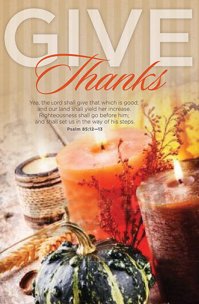 Give Thanks Thanksgiving Bulletin - Pack of 100