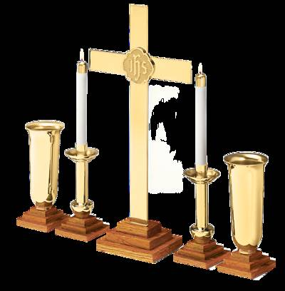 Picture of CHAPEL LINE ALTAR SET OAK BASE