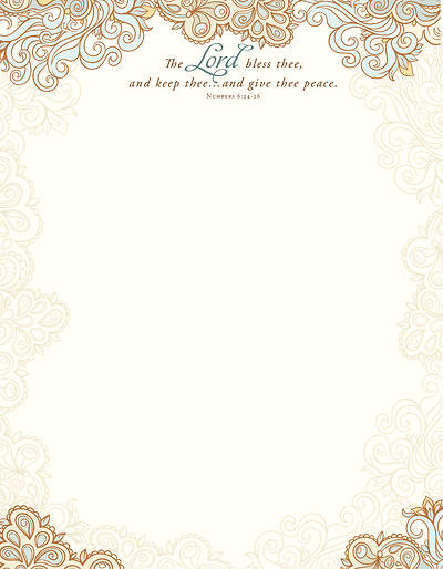 The Lord Bless Thee Numbers 6:24-26 (KJV) - Letterhead (Pkg of 100)