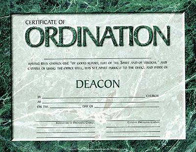 Certificate Deacon Ordination Package 6