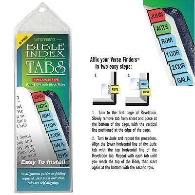 Picture of Verse Finders Thin Pack XL Print Rainbow Bible Tabs
