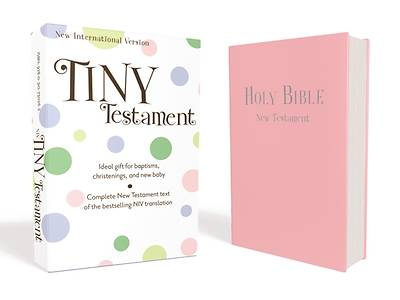 NIV Tiny Testament Bible - Leather Look Pink