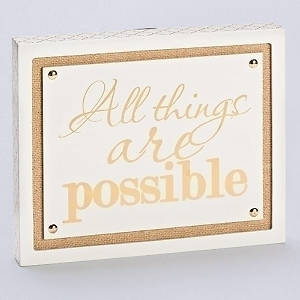 Picture of All Thing Are Possible Wall Plaque