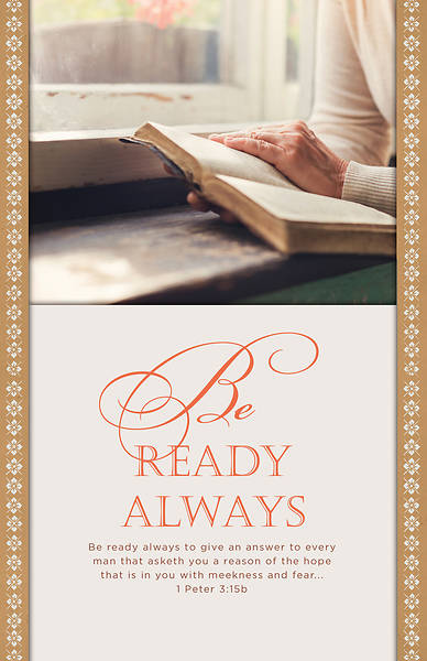 Picture of Be Ready Always General Regular Size Bulletin