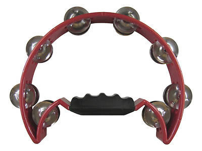 Half Moon Double Row Tambourine - Red