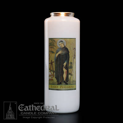St. Peregrine 6-Day Glass Prayer Candle