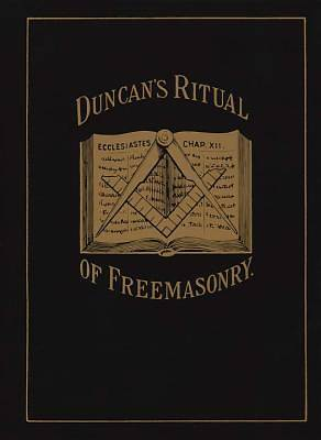 Duncans Ritual of Freemasonry