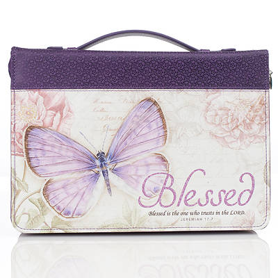 Picture of Bible Cover Purple Butterfly Blessed Jeremiah 17