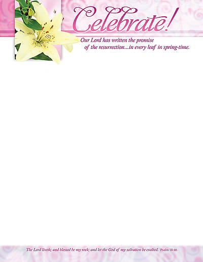 Easter Letterhead Celebrate!, Package of 100