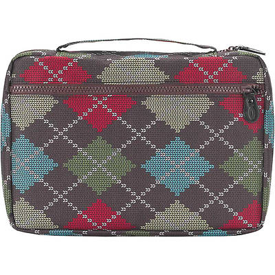 Brown Argyle Bible Cover - XL