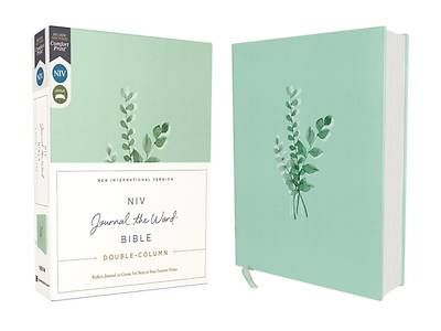 Picture of Niv, Journal the Word Bible, Double-Column, Cloth Over Board, Teal, Red Letter Edition, Comfort Print