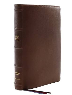 Picture of Kjv, Reference Bible, Center-Column Giant Print, Premium Goatskin Leather, Brown, Premier Collection, Comfort Print