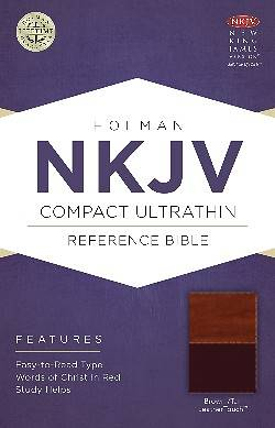 NKJV Compact Ultrathin Bible, Brown/Tan Leathertouch