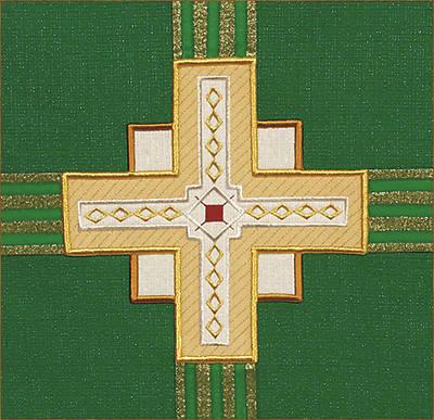 Picture of Abbott Hall Kingdom Cross N2349B Lectern Scarf