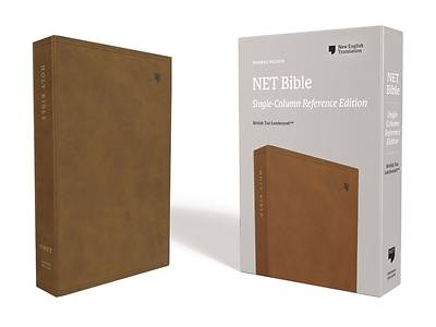 Net Bible, Single-Column Reference, Leathersoft, Brown, Comfort Print