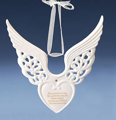 Memorial Keepsake Wing Heart Ornament