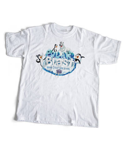 Vacation Bible School (VBS) 2018 Polar Blast Adult Theme T-Shirt - MED