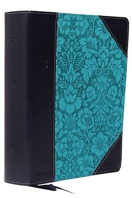 NKJV, Journal the Word Reference Bible, Imitation Leather, Blue, Red Letter Edition, Comfort Print