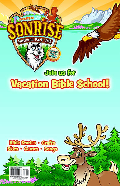 Gospel Light Vacation Bible School 2012 SonRise National Park Publicity Poster