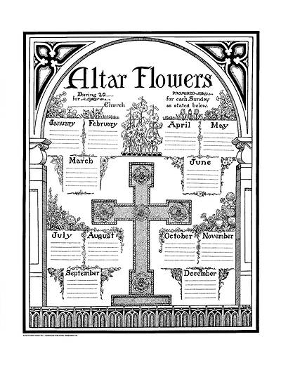 Picture of Altar Flower Chart #1