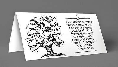 Christmas Season Card Pear Tree