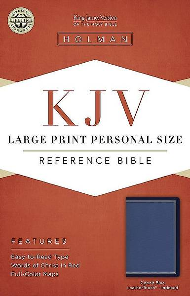 KJV Large Print Personal Size Reference Bible, Cobalt Blue Leathertouch, Indexed