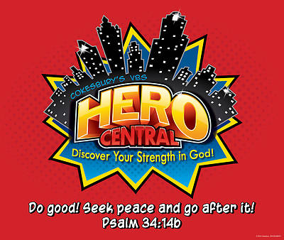 Vacation Bible School VBS Hero Central Large Logo Poster