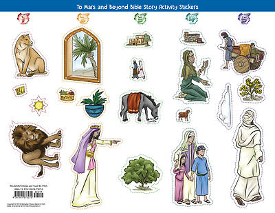 Picture of Vacation Bible School (VBS) To Mars and Beyond Bible Story Activity Stickers (Pkg of 6)
