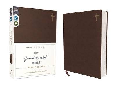 Picture of Niv, Journal the Word Bible, Double-Column, Leathersoft, Brown, Red Letter Edition, Comfort Print