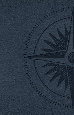 Picture of CSB Heart of God Teen Study Bible Navy, Compass Design Leathertouch