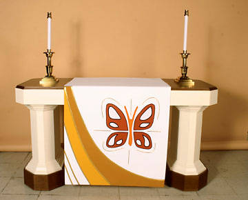 Ascension Series White Altar Antependia with Butterfly