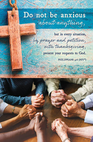 Picture of Do Not Be Anxious Regular Bulletin Philippians 4:6 NIV
