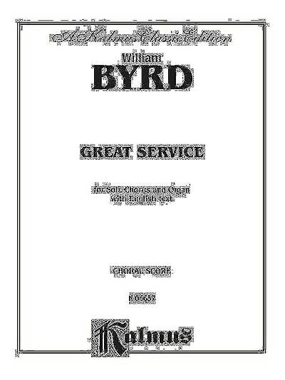 Picture of Great Service; Choral Score