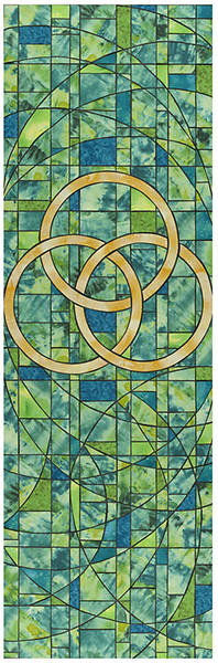 Symbols of Faith Series Stained Glass Trinity Banner 2 X 6