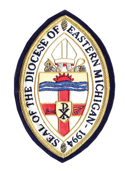 Hand Embroidered Diocesan Seal - Diocese of Eastern Michigan