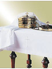 Embroidered Latin Cross Polyester Communion Table Cover  50