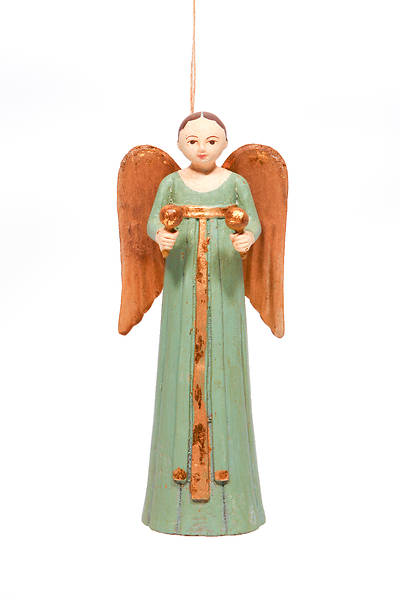 Picture of Resin Rosellie Angel Ornament With Macaras